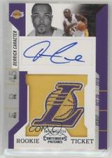 2010-11 Playoff Contenders Patches #199 Derrick Caracter Los Angeles Lakers Auto