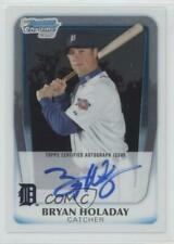2011 Bowman Chrome Prospects Autograph #BCP173 Bryan Holaday Detroit Tigers Auto