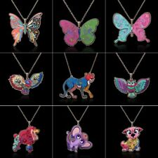 Colorful Printing Butterfly Dog Elephant Pendant Necklace Women Lady Jewelry New