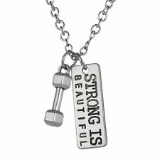 Sport Mini Metal Charm Pendant Silver Plated Chain Necklace Lover Gift Jewelry