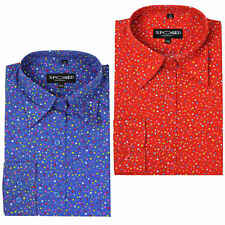 Ladies Women Long Sleeve Shirt Smart Casual Slim Fit Button Collar Top Red Blue