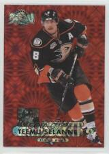 2013-14 Fleer Showcase Metal Universe Precious Gems Red MU-20 Teemu Selanne Card