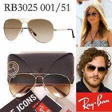 Ray-Ban RB3025 001/51 Aviator Brown Gradient Lens Gold Frame Sunglasses