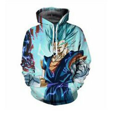 Women Men 3D Dragon Ball Blue Goku Pullover Hoodie Pocket Sweatshirt Sportswear