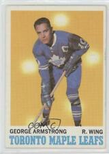 1970-71 Topps #113 George Armstrong Toronto Maple Leafs Hockey Card