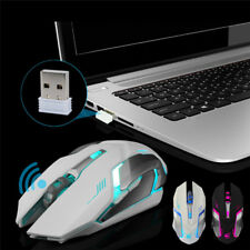 X7 Wireless USB LED Backlit Silent Optical Ergonomic Gaming Game Mouse For PC