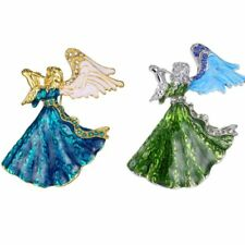 Lovely Crystal Angel Brooch Pin DIY Wedding Christmas Party Gift Jewellery New