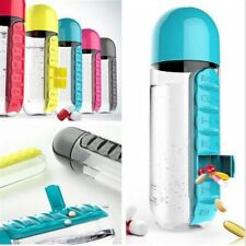 7 Days Pill Tablet Medicine Daily Organizer Water Bottle Cycling With Pill Case