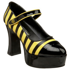 FUNTASMA Women's Costume Chunky Heel Mary Jane Bumble Bee Platform Pumps BUZZ-66