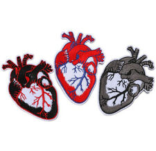 Heart Embroidered Iron On / Sew On Patches Badges Transfers Hearts Bag Patches