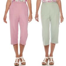 Alfred Dunner Womens Savannah Capris Pull On Solid size 8 10 12 14 16 18 NEW