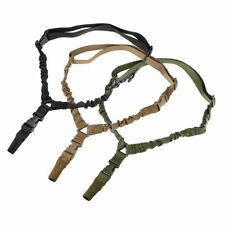 Adjustable Tactical Hunting Bungee One Single Point Rifle Gun Sling System Strap