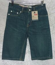 Lev's 505 Boys Denim Shorts Regular 5 Packets Cotton Blue Youth size 14 NEW