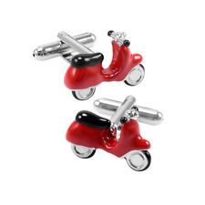 Novelty Motorcycle Cufflinks French Shirt Sleeve Button Paint Cuff Links