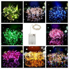 New 20/50/100 LED String Copper Wire Fairy Lights Battery Powered Waterproof A