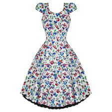 Hearts & Roses London Gorgeous Floral Vintage 50s Party Prom Swing Flare Dress U