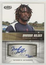 2012 SAGE Hit Autographs Gold #A98 Brandon Bolden New England Patriots Auto Card