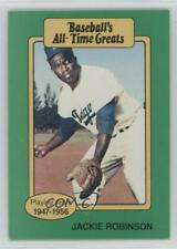 1987 Hygrade Baseball's All-Time Greats #JARO.1 Jackie Robinson (Fielding) Card