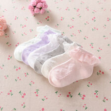 Infant Kid Baby Lace Cotton Sock Newborn Spanish Knitted Blend Ankle Socks SizeS
