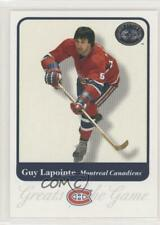 2001-02 Fleer Greats of the Game #20 Guy Lapointe Montreal Canadiens Hockey Card