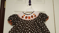 Girls Size 2 Barefoot Brown Fall Bishop Smocked ( Tunic & Pants ) Outfit