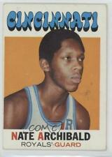 1971-72 Topps #29 Nate Archibald Cincinnati Royals RC Rookie Basketball Card