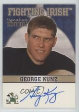 2003 2003-07 TK Legacy Notre Dame #FI21 George Kunz Fighting Irish Auto Card