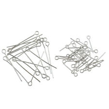 Wholesale 100Pcs Silver Plated Metal Head Eye Pin Jewelry Findings 17mm/30mm
