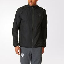 Adidas Manchester United Men`s Woven Jacket AP7188 All Black 2016-17