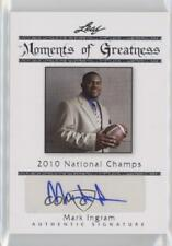 2011 Leaf Legends of Sport Moments Greatness Silver #MG-19 Mark Ingram Auto Card