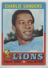 1971 Topps #210 Charlie Sanders Detroit Lions RC Rookie Football Card