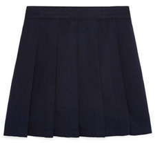 Izod Girls School Uniform Skirt Pleated Built In Shorts Navy NWT Free Shipping!