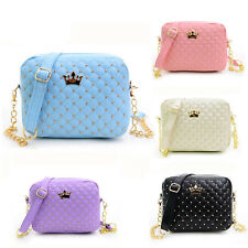 New Women Purse Messenger Bags Rivet Chain Shoulder Bag Leather Crossbody Clutch