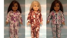 """Pajamas handmade for 18"""" American Girl Doll to fit 18 inch Doll Clothes 426-27ab"""
