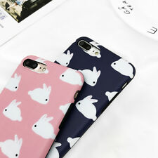 Hot Sale Cute Rabbit Soft IMD Back Cover Phone Case For iPhone 6 6S 7 8 Plus