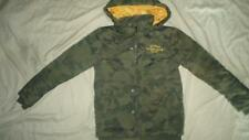 NEW YOUNG BOYS GUESS CAMO GREEN BOMBER CAMOUFLAGE WINTER JACKET SIZE 14 16