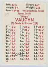 1980 APBA Baseball 1916 Season #HIVA Hippo Vaughn Chicago Cubs Rookie Card