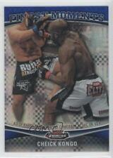 2012 Topps UFC Finest Moments Blue X-Fractor #FM-CK Cheick Kongo MMA Card