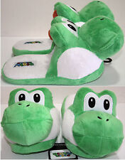 Super Mario Bros Japanese GREEN YOSHI ADULT Slippers PLUSH HOUSE SHOES S-L NEW