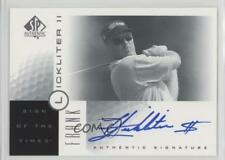 2001 SP Authentic Sign of the Times #FL Frank Lickliter Auto Rookie Golf Card
