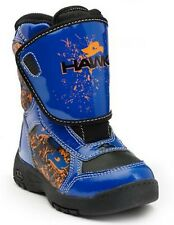 Tony Hawk Toddler Boys Winter Snow Boots Blue Thermolite Waterproof Leather
