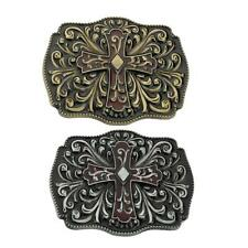 Vintage Men's Western Celtic Flower Pattern Belt Buckle Cowboy Belt Buckles