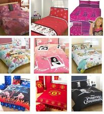 CHARACTER & DISNEY DOUBLE DUVET COVERS - KIDS TEENAGERS CHILDRENS BEDDING SETS