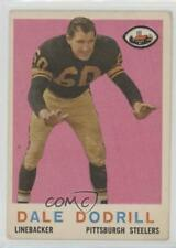 1959 Topps #34 Dale Dodrill Pittsburgh Steelers Football Card
