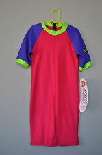 Radicool Rash Guard SPF UPF Swimwear Purple Pink Surfing Wetsuit sz 10 12 14