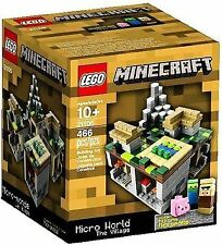 Lego 21105 Minecraft Micro World: The Village 21105 New In Sealed Box NISB