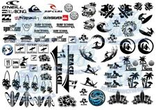 SURF'S UP DECAL PACK | Beach & Surfing Waterslide Decals in all popular scales