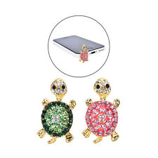Crystal Turtle Earphone Jack Anti Dust Plug Cap Stopper for CellPhone 3.5mm~~