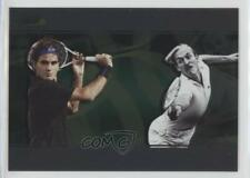 2008 Ace Authentic Matchpoint Dual #D3 Roger Federer Stan Smith Tennis Card