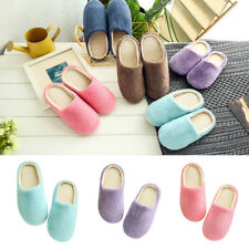 Unisex Winter Warm Soft Home Non-Silp Pure Color Slippers Indoor Shoes Witty
